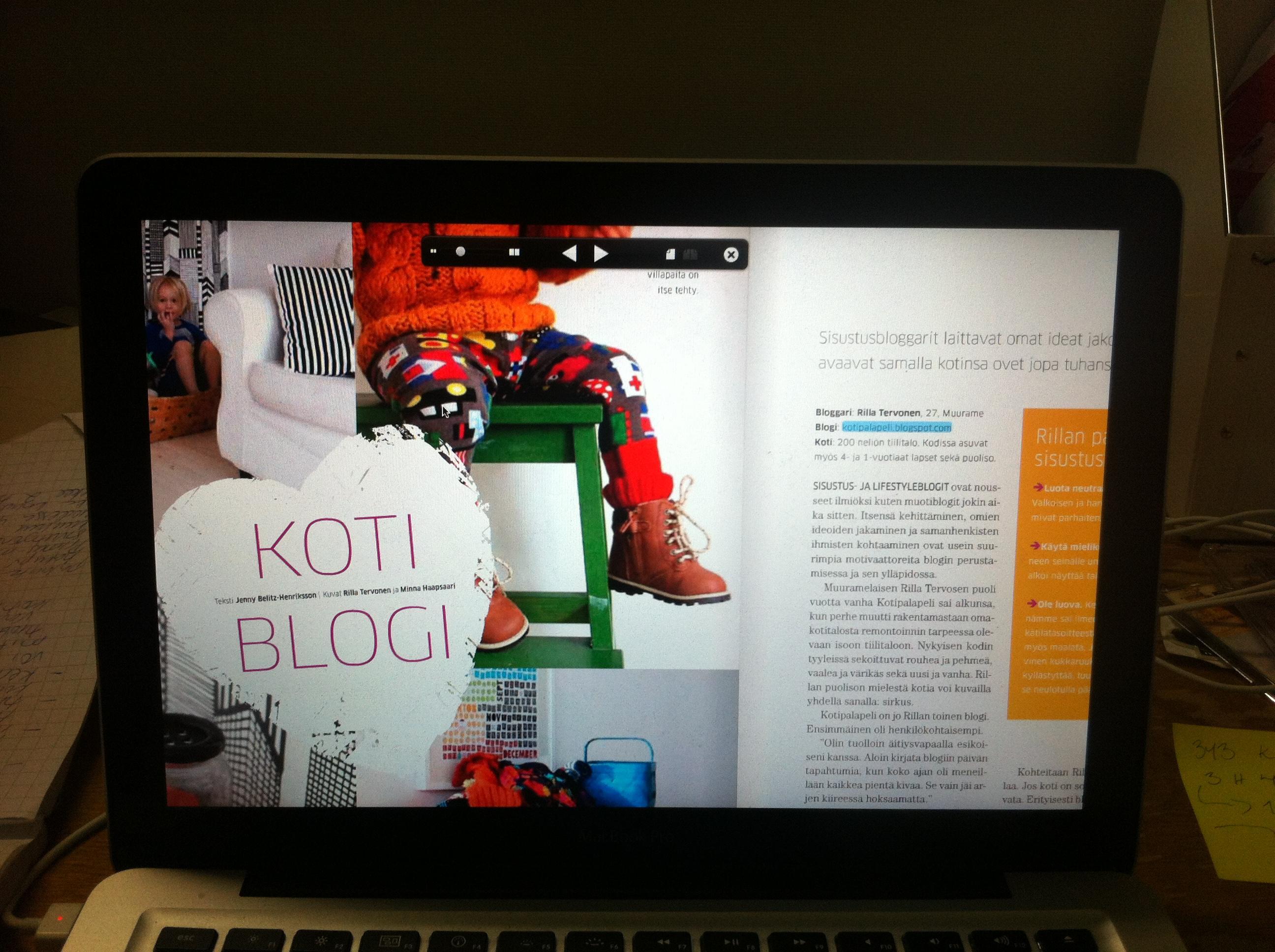 Sisustusbloggaajia SATOn Kotona-lehdessä