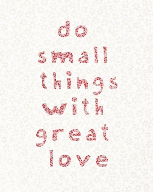 Pieniä, hyviä tekoja on helppo tehdä..