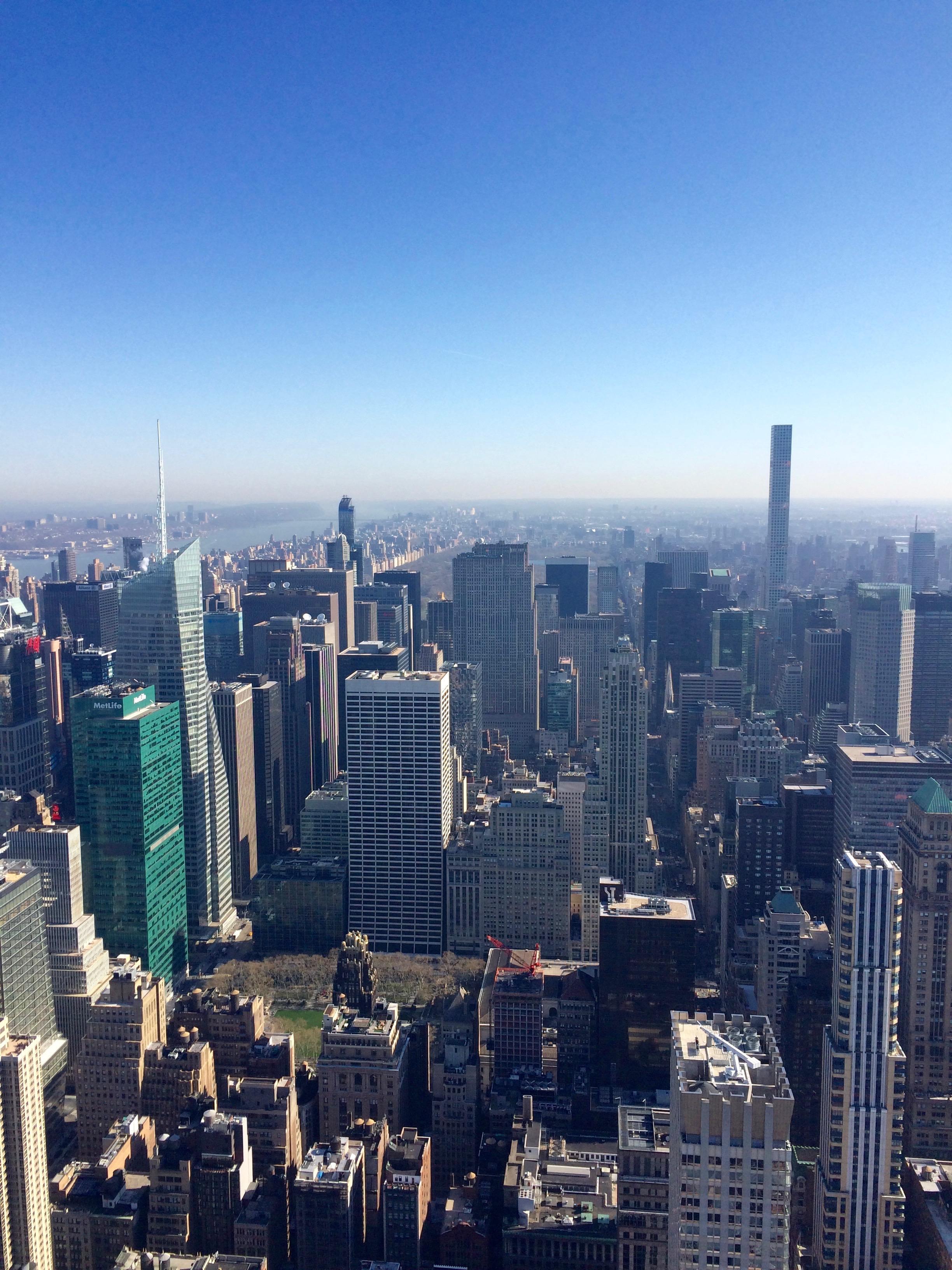 Yksi maisema Empire State Buildingista.