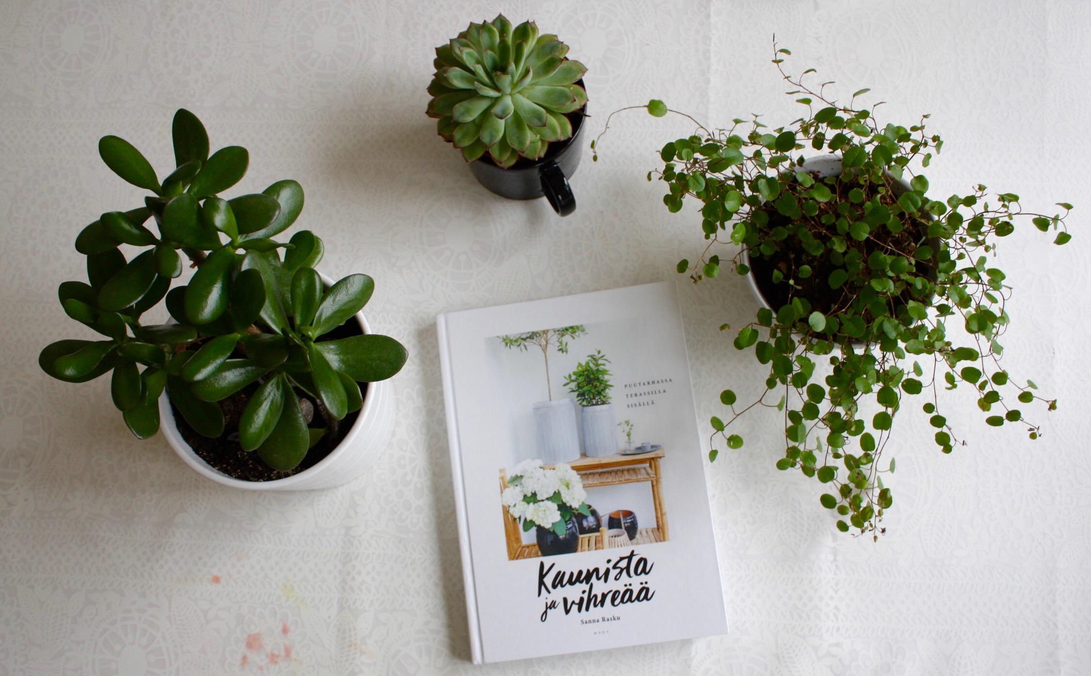 Kaunista ja vihreää – aloittelevan viherpeukalon uusi lempikirja